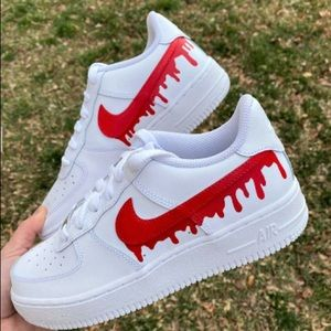 custom drip air force 1s (mens)